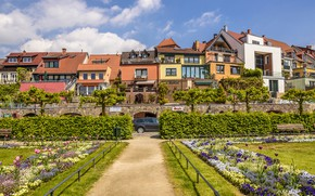 Картинка зелень, фото, дома, Germany, Waren