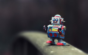 Обои робот, игрушка, боке