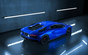 Картинка Авто, Синий, Lamborghini, Машина, Car, Суперкар, Aventador, Lamborghini Aventador, Supercar, Спорткар, Sportcar, Transport & Vehicles, …