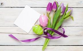Картинка весна, Пасха, тюльпаны, flowers, tulips, easter