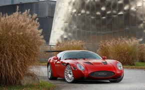 Картинка красный, Maserati, concept, red, Zagato, Maserati Zagato Mostro