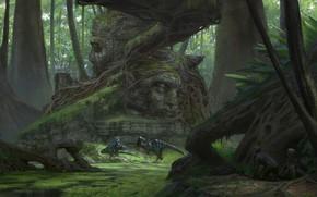 Картинка динозавры, Klaus Pillon, неожидананная встреча, Unexpected Meeting