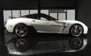 Картинка Италия, Суперкар, Mansory, Ferrari 599 GTB Fiorano, Stallone, спортивный заднеприводный двухместный малосерийный, автомобиль с бензиновым …