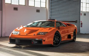 Картинка Orange, Classic, Supercar, Lamborghini Diablo GTR