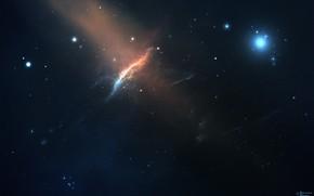 Картинка Звезды, Космос, Туманность, Fantasy, Арт, Stars, Space, Art, Фантастика, Nebula, StarkitecktDesigns, by StarkitecktDesigns, Cosmic Peaks
