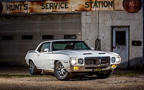 Картинка Muscle, Car, Pontiac, White, Firebird, Pontiac Firebird
