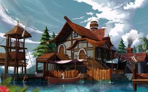 Картинка дом, рисунок, арт