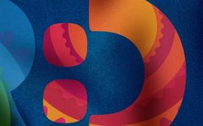 Картинка цвета, узор, материя, орнамент, Logo design for Dominican Republic