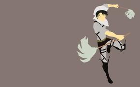 Картинка Аниме, Shingeki no Kyojin, Атака титанов, Levi Ackerman, разведкорпус, Уборка