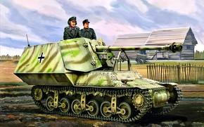Картинка Германия, САУ, истребитель танков, Вермахт, Marder I, Sd.Kfz. 135, 75-мм PaK.40