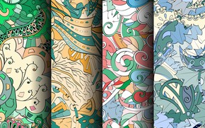 Картинка зеленый, фон, узор, colorful, patterns, seamless