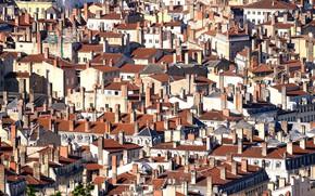 Картинка город, дома, Lyon, Roofs