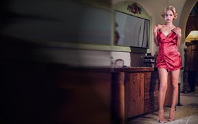 Картинка Ariel, lady in red, Ariel A, Lilit A, Lillianne, Ariela, без белья, Natasha Udovenko, Наташа …