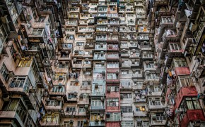 Картинка China, architecture, Hongkong, appartement, Intensive living