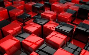 Картинка блеск, компьютерная графика, 3D art, glitter, глянцевая поверхность, 3D арт, computer graphics, black and red …