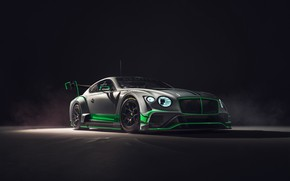 Картинка Bentley, Continental, гоночное авто, GT3, 2018