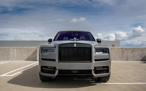 Картинка Rolls Royce, Front, Face, Graphite, Cullinan, Luxury SUV