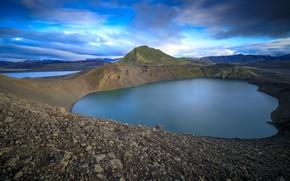 Картинка горы, озеро, кратер