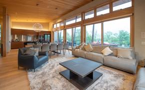 Картинка дизайн, стиль, интерьер, кухня, гостиная, столовая, Soseki living room