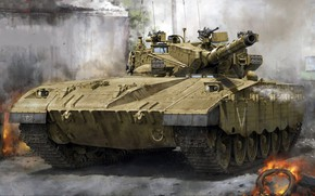 Картинка основной боевой танк, в состав СУО включён тепловизор, Меркава Mk.2B
