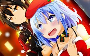 Картинка девочка, парень, Sword Art Online, Кирито, Мастера Меча Онлайн