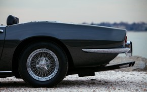 Картинка чёрный, Maserati, 1969, родстер, бампер, спайдер, патрубки, Ghibli Spider