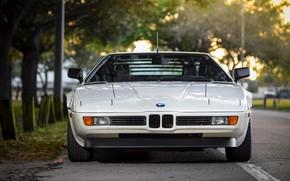Картинка белый, BMW, вид спереди, BMW M1, E26, M1