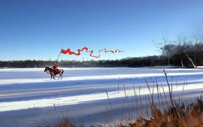 Картинка Зима, Рисунок, Снег, Воин, Art, Рыцарь, Concept Art, Characters, Dominik Mayer, Dash, by Dominik Mayer, …