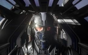 Картинка шлем, пилот, космический корабль, Star Citizen
