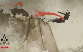 Картинка China, game, jump, walls, man, Assassin's Creed, jumping, castle, digital art, artwork, Assassin's Creed: Chronicles, …