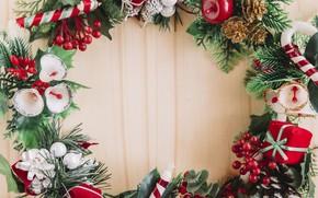 Картинка елка, Новый Год, Рождество, Christmas, венок, wood, New Year, decoration, wreath, Merry, fir tree