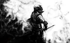 Картинка sword, armor, dark souls, knight, helmet, дарк соулс