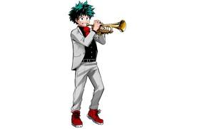 Картинка Trumpet, Boku no Hero Academia, Midoriya Izuku, Official Art, Kohei Horikoshi
