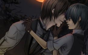Картинка аниме, демон, арт, Сиэль, Тёмный дворецкий, Kuroshitsuji, Себастьян