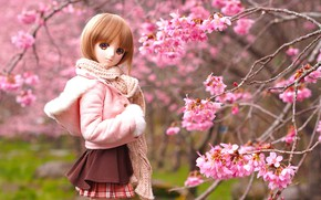 Картинка деревья, игрушка, весна, кукла