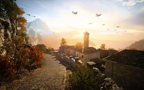 Картинка пейзаж, игра, Battlefield V