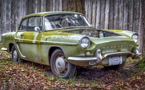 Обои старина, ржавый, автомобиль, Renault Caravelle