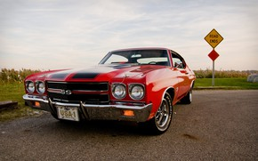 Картинка 1970, Chevrolet Chevelle, Muscle Car, 1970 Chevrolet Chevelle SS