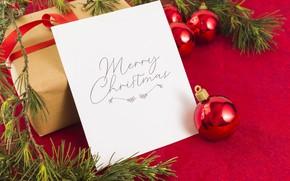 Картинка Новый Год, Рождество, лента, подарки, Christmas, box, wood, New Year, decoration, gifts, Merry, fir tree, …