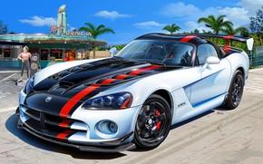 Картинка США, Dodge Viper, SRT 10, ACR, Спортивный автомобиль
