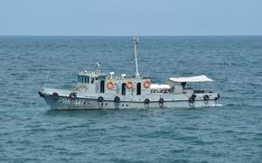 Картинка катер, черное море, специальный, водолазный