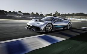Картинка машина, Mercedes-Benz, гиперкар, гоночная трасса, Mercedes-AMG, Project ONE