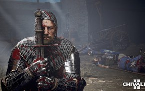 Картинка люди, кровь, меч, солдаты, рыцарь, стрелы, трупы, кольчуга, Chivalry 2