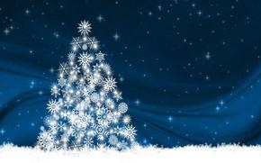 Картинка снежинки, фон, праздник, елка, новый год, вектор