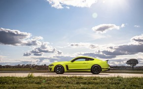 Картинка Mustang, Ford, вид сбоку, AU-spec, R-Spec, 2019, Australia version