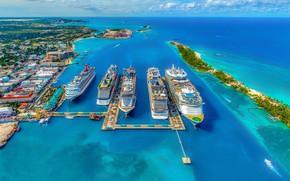 Картинка море, лайнеры, Багамы, Нассау