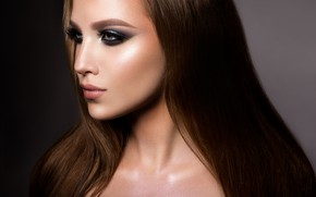 Картинка model, lips, make up