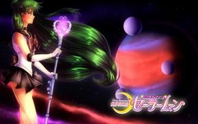 Картинка девушка, планеты, Sailor Moon, Сейлор Мун