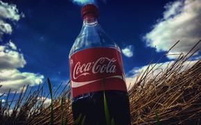 Картинка небо, природа, стиль, красное, coca-cola, разное, cola, кока - кола