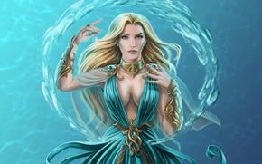 Картинка вода, девушка, магия